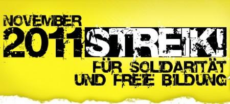 Bildungsstreik 2011 - Für Solidarität und freie Bildung!