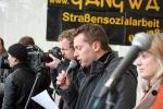 Rede für das Bündnis lokaler Anti-Privatisierungs-Initiativen (APRI) von Gerlinde Schermer (Berlin) und Mike Nagler (Leipzig).