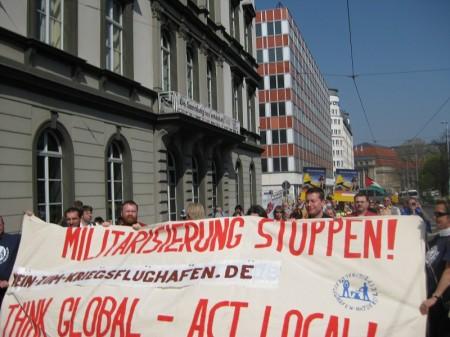Demonstration Ostermarsch Leipzig 2009