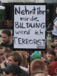 2012-05-10 Demonstration Dresden Bildung Terrorist