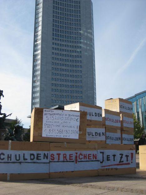 2012-10-13 Aktion Demokratie Jetzt Schuldenstreichung occupy Leipzig (1)
