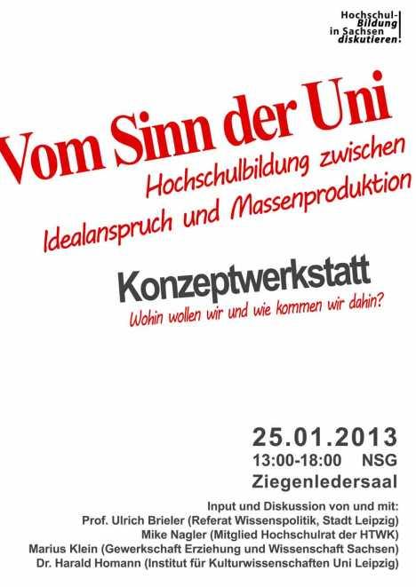 2013-01-25-Vom-Sinn-der-Universitaet - Hochschulbildung in Sachsen Mike Nagler Web