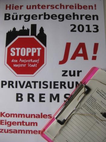 Buergerbegehren in Leipzig gegen Privatisierung