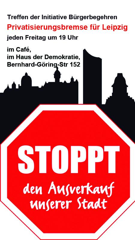 Treffen Initiative Privatisierungsbremse Leipzig