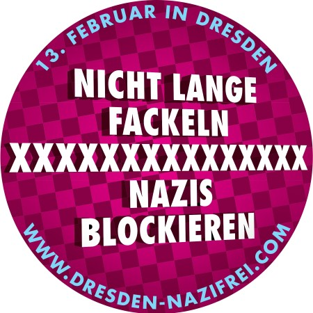2013 Dresden Nazifrei Aufkleber