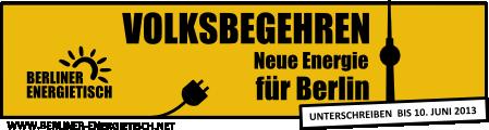 Volksbegehren Energietisch Berlin banner450x120y