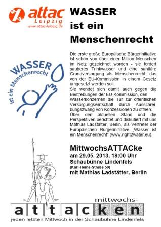 2013-05-29 mittwochsattacke wasser ist ein menschenrecht mathias ladstaedter leipzig