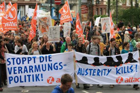 2013 Blockupy Frankfurt Attac - Foto Lisabeth Hoff