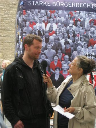 2013-06-28 Aktion Volksentscheid Leipzig Mehr Demokratie Mike Nagler