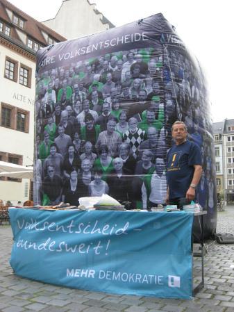 2013-06-28 Aktion Volksentscheid Leipzig Mehr Demokratie Stand