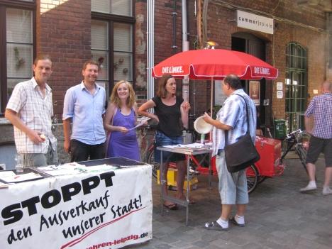 2013-07-21 Werk 2 Leipzig Buergerbegehren und DIE LINKE Multikulti Fest (10) Mike Nagler