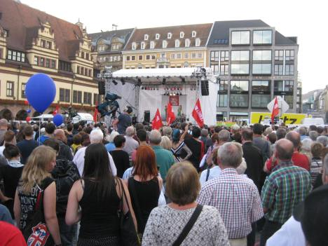 2013-08-28 Wahlkampfauftakt DIE LINKE Leipzig-Marktplatz 2