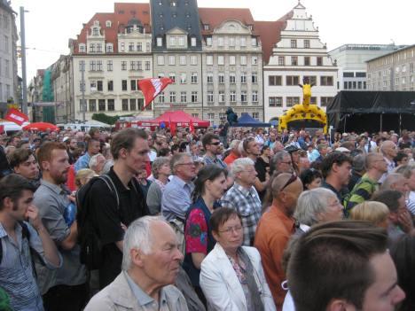 2013-08-28 Wahlkampfauftakt DIE LINKE Leipzig-Marktplatz