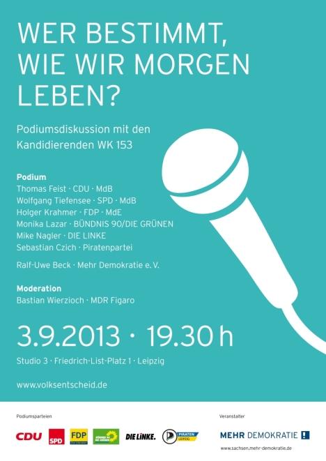 2013-09-03 Leipzig Mehr Demokratie Podium_in_Sachsen