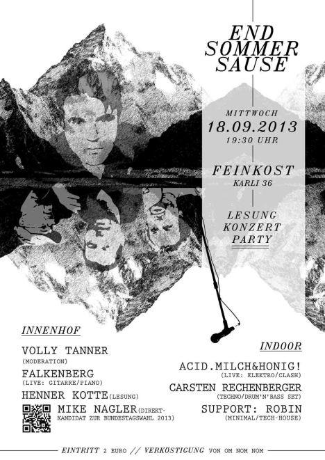 2013-09-18 Feinkost Endsommersause Mike Nagler Falkenberg Volly Tanner henner Kotte Leipzig
