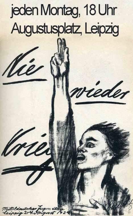 Leipzig-nie-wieder-krieg-Nie-wieder-Faschismus-Montagsdemo-Frieden