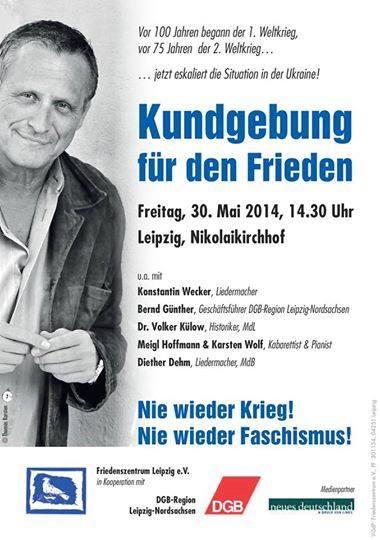 Friedenszentrum Leipzig-Nie wieder Krieg Konstantin Wecker