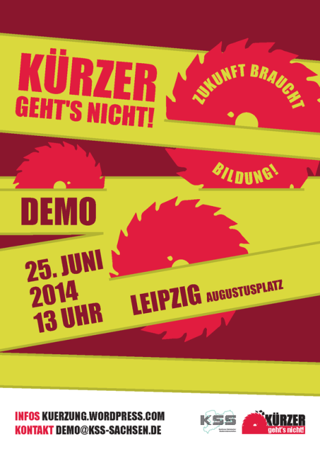 Demonstration am 25.06.2014 in Leipzig