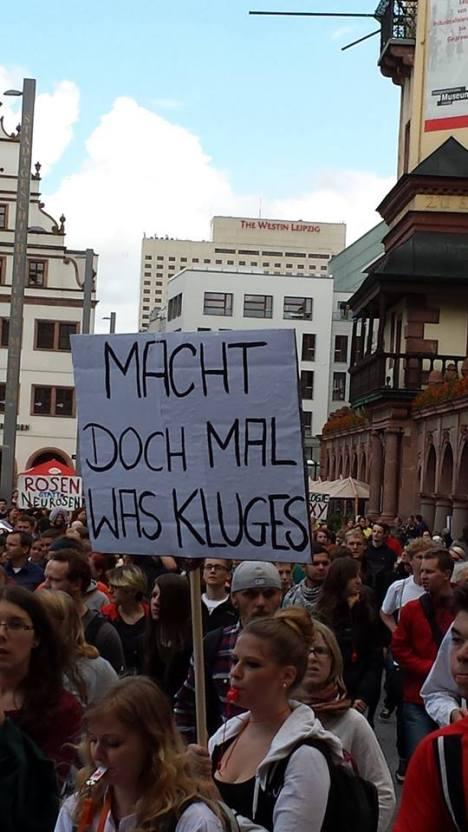 2014-06-25 Kuerzer gehts nicht Demonstration Leipzig Bildung - 08