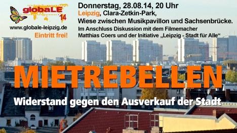 2014-08-28 Leipzig globaLE attac Mietrebellen Film