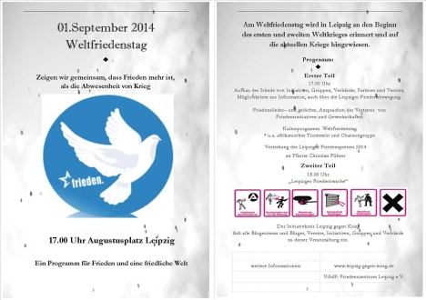2014-09-01 Weltfriedenstag Flyer Leipzig