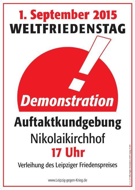 Weltfriedenstag 2015 Leipzig gegen Krieg