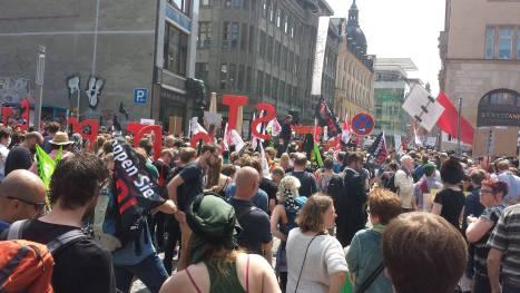 2016-05-28 Demo Leipzig Zwischenkundgebung
