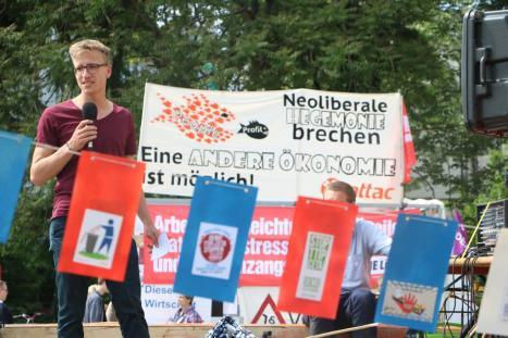 2016-05-28 Demo StopTTIPundCETA Leipzig Katholikentag (33) SPD Henrik Fischer Sozis gegen TTIP